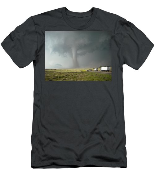 Men's T-Shirt (Slim Fit) featuring the photograph Tornado Truck Stop by Ed Sweeney