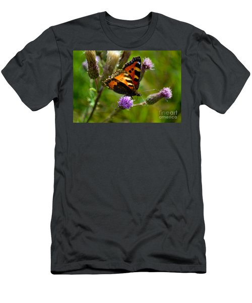 Tortoise Shell Butterfly Men's T-Shirt (Athletic Fit)