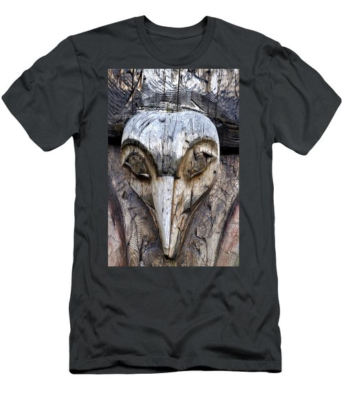 Totem Face Men's T-Shirt (Slim Fit) by Cathy Mahnke