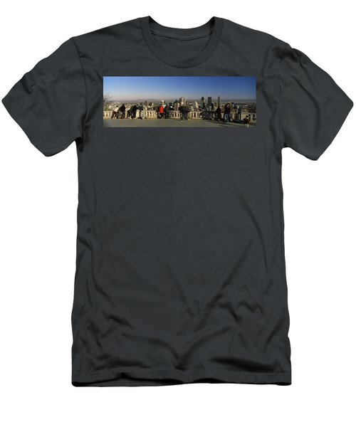 Tourists At An Observation Point Men's T-Shirt (Athletic Fit)