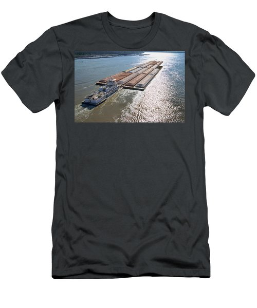 Towboats And Barges On The Mississippi Men's T-Shirt (Athletic Fit)