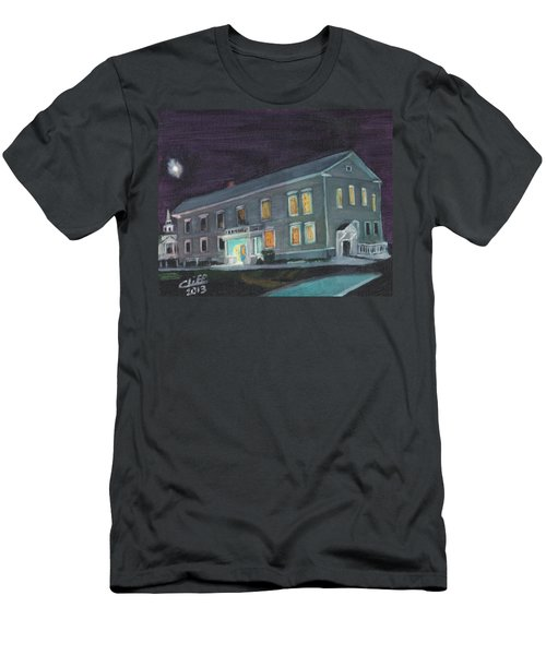 Town Hall At Night Men's T-Shirt (Athletic Fit)