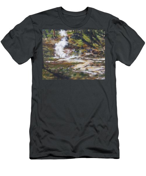 Trail To The Artists Paint Pots - Yellowstone Men's T-Shirt (Athletic Fit)