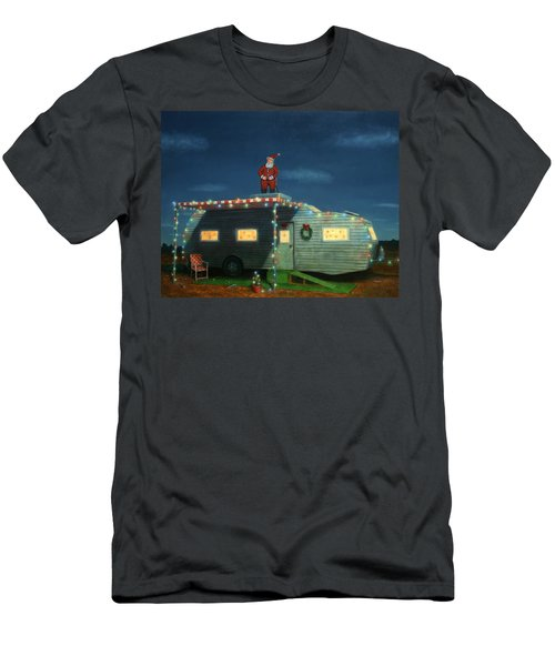 Trailer House Christmas Men's T-Shirt (Athletic Fit)