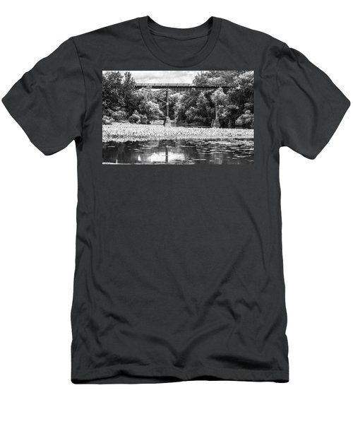 Men's T-Shirt (Athletic Fit) featuring the photograph Train Bridge by Garvin Hunter