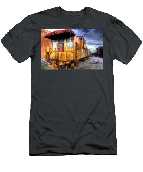 Train Caboose Men's T-Shirt (Athletic Fit)