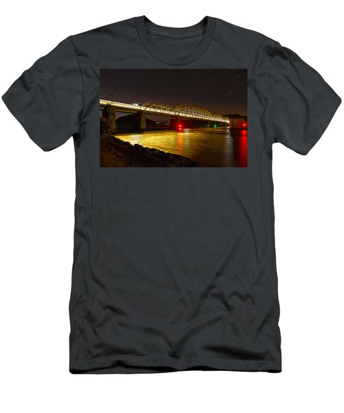 Train Lights In The Night Men's T-Shirt (Athletic Fit)