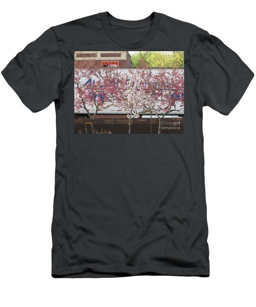 Men's T-Shirt (Slim Fit) featuring the photograph Train Tracks by Michael Krek