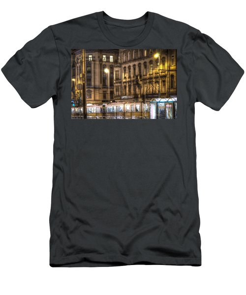Tram Night Men's T-Shirt (Athletic Fit)