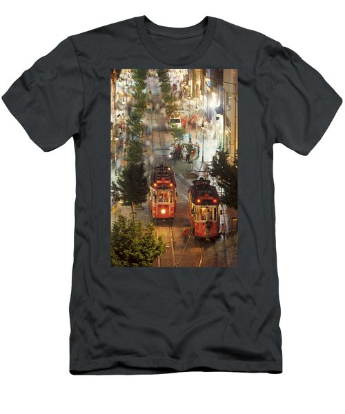 Trams In Beyoglu Men's T-Shirt (Athletic Fit)