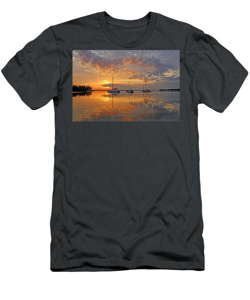 Tranquility Bay - Florida Sunrise Men's T-Shirt (Athletic Fit)