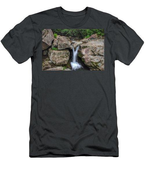 Trash Can Falls Men's T-Shirt (Athletic Fit)