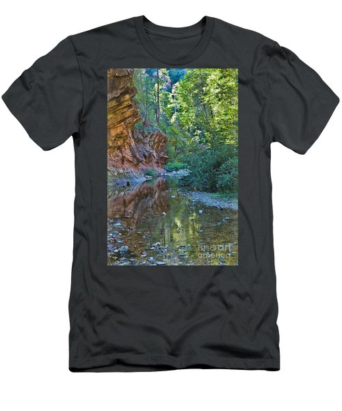 Men's T-Shirt (Athletic Fit) featuring the photograph Tree Reflection by Mae Wertz