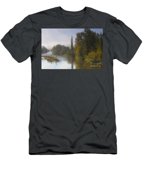 Trees A View From Usk Bridge Men's T-Shirt (Athletic Fit)