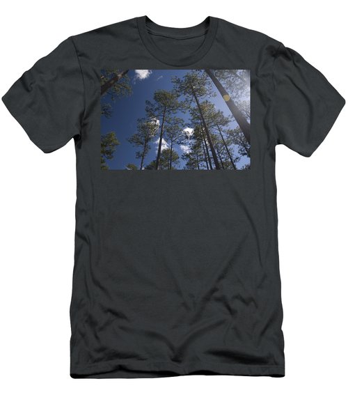 Men's T-Shirt (Slim Fit) featuring the photograph Trees And Nature by Charles Beeler