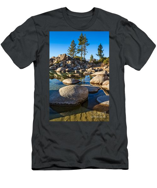 Trees And Rocks Men's T-Shirt (Athletic Fit)