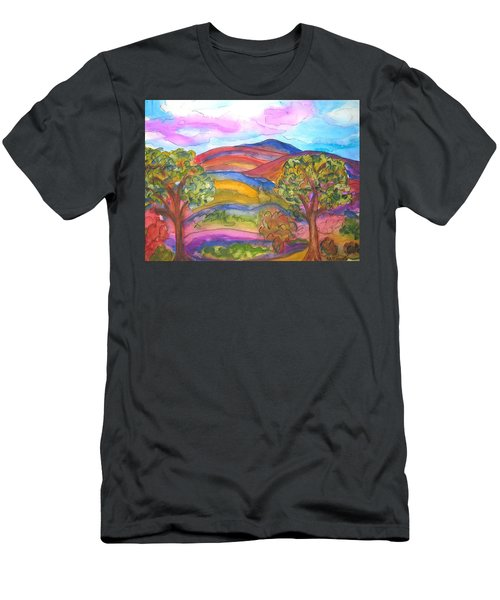 Trees And The Mountain Men's T-Shirt (Athletic Fit)