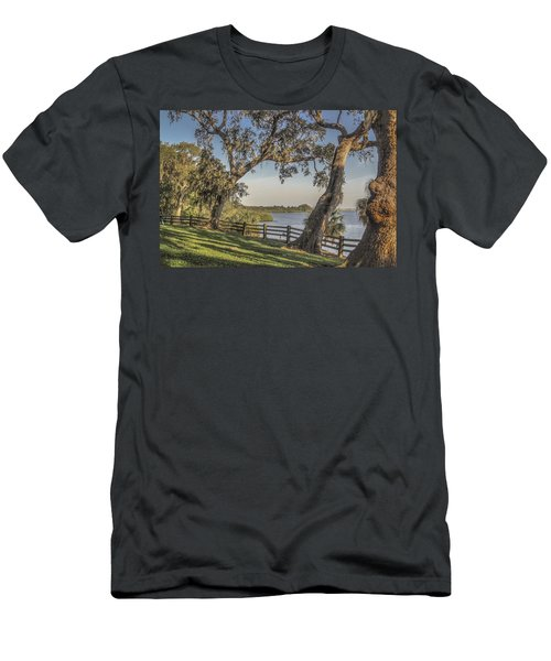 Men's T-Shirt (Slim Fit) featuring the photograph Trees With A View by Jane Luxton