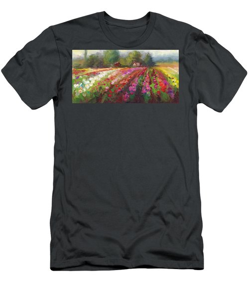 Trespassing Dahlia Field Landscape Men's T-Shirt (Athletic Fit)
