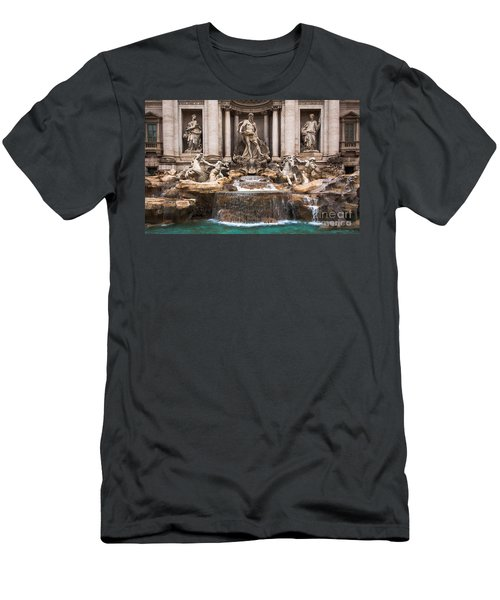 Men's T-Shirt (Athletic Fit) featuring the photograph Trevi Fountain by John Wadleigh