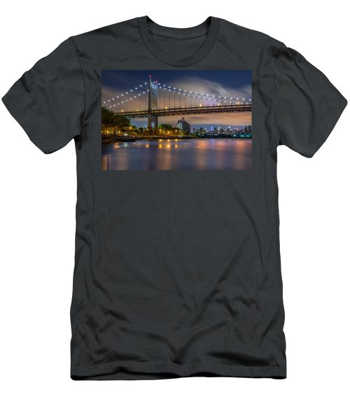 Triboro Bridge Men's T-Shirt (Slim Fit) by Mihai Andritoiu
