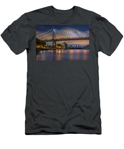 Men's T-Shirt (Slim Fit) featuring the photograph Triboro Bridge by Mihai Andritoiu