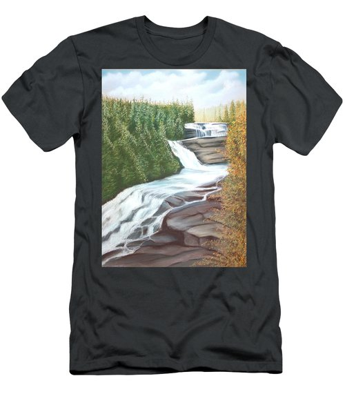 Triple Falls Men's T-Shirt (Athletic Fit)