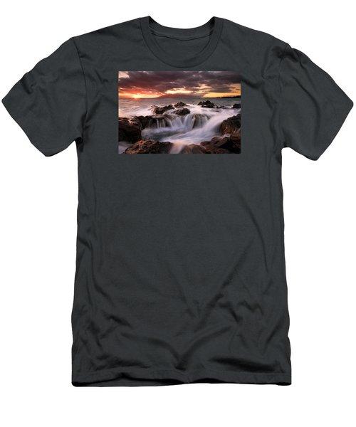 Tropical Cauldron Men's T-Shirt (Slim Fit) by Mike  Dawson
