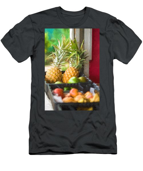 Tropical Fruitstand Men's T-Shirt (Athletic Fit)