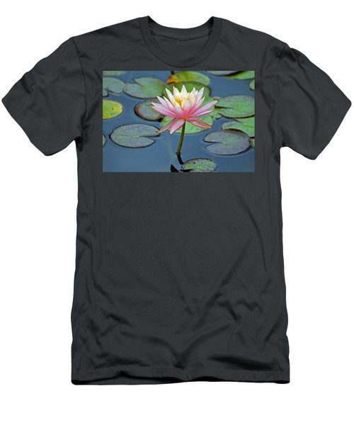 Tropical Pink Lily Men's T-Shirt (Athletic Fit)