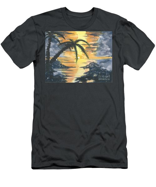 Tropical Sun Men's T-Shirt (Athletic Fit)