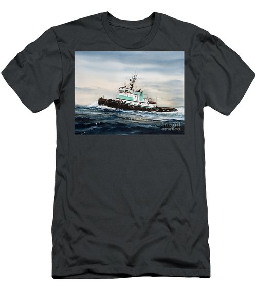 Tugboat Island Champion Men's T-Shirt (Slim Fit) by James Williamson