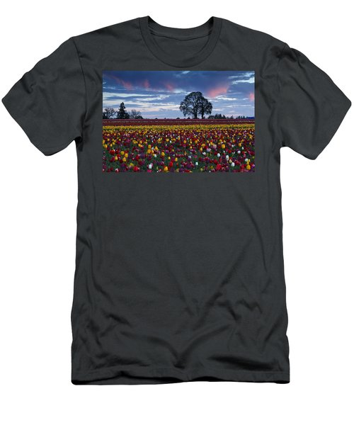 Tulip Field's Last Colors Men's T-Shirt (Athletic Fit)