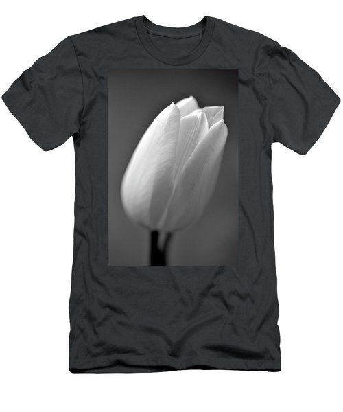 Tulip In Black And White Men's T-Shirt (Athletic Fit)
