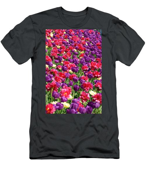 Tulips In A Meadow Men's T-Shirt (Athletic Fit)