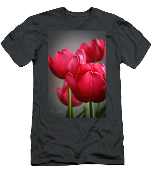 Tulips In The  Morning Light Men's T-Shirt (Athletic Fit)