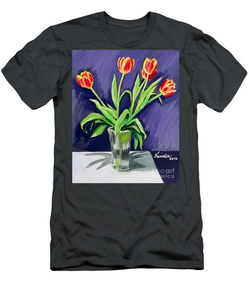 Tulips On The Table Men's T-Shirt (Slim Fit)