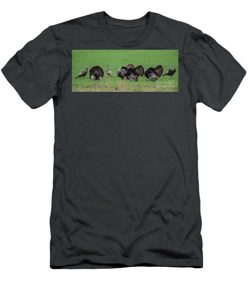 Turkey Mating Ritual Men's T-Shirt (Athletic Fit)