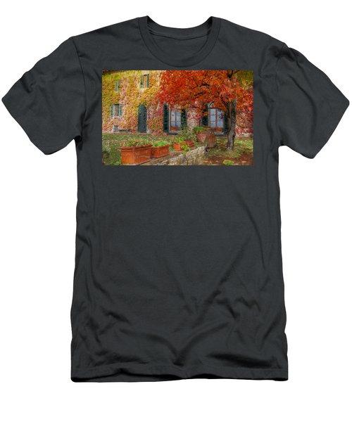 Tuscan Villa In Autumn Men's T-Shirt (Athletic Fit)