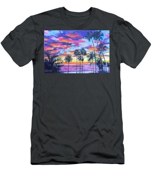 Twilight Palms Men's T-Shirt (Slim Fit) by Bonnie Lambert
