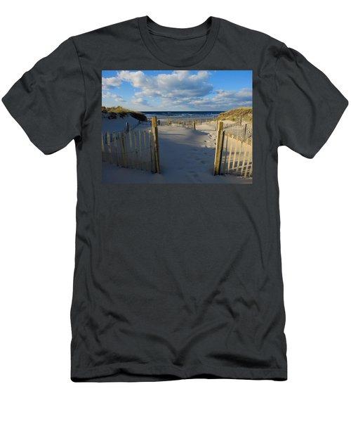 Men's T-Shirt (Slim Fit) featuring the photograph Golden Hour Beach by Dianne Cowen