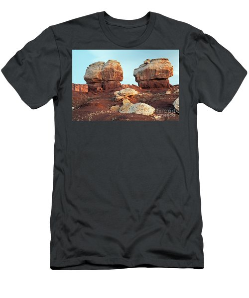Twin Rocks At Sunrise Capitol Reef National Park Men's T-Shirt (Athletic Fit)