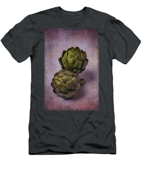 Two Artichokes Men's T-Shirt (Slim Fit) by Garry Gay