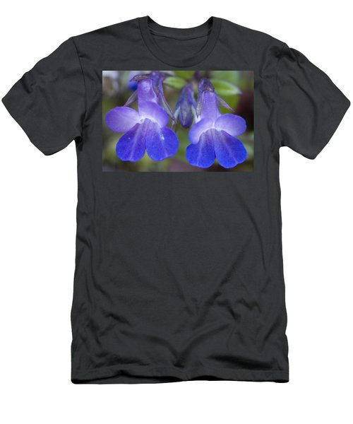 Men's T-Shirt (Slim Fit) featuring the photograph Two Blue by Sonya Lang