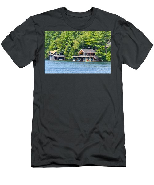 Two Luxury Boathouses Men's T-Shirt (Athletic Fit)