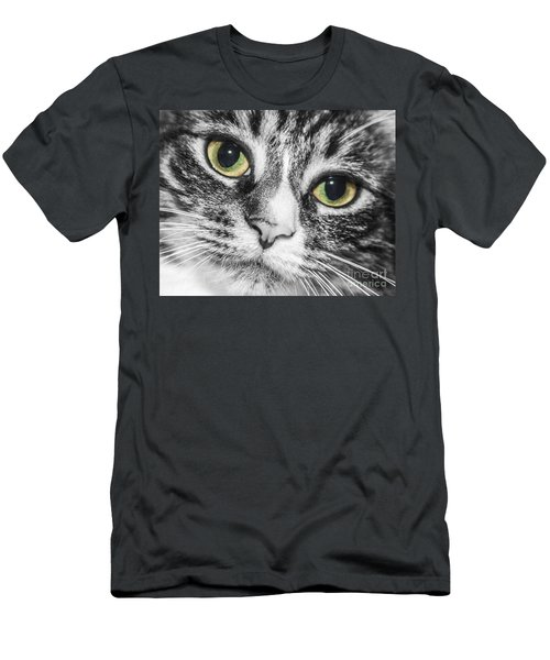 Two Toned Cat Eyes Men's T-Shirt (Athletic Fit)