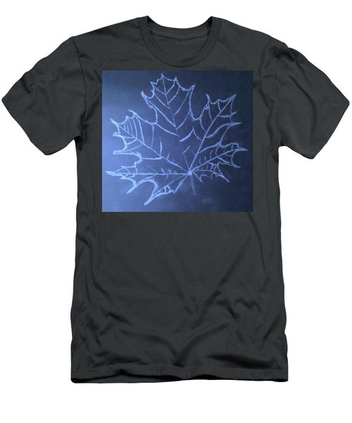 Men's T-Shirt (Slim Fit) featuring the drawing Uncertaintys Leaf by Jason Padgett