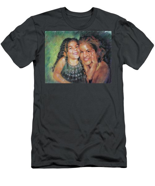 Men's T-Shirt (Slim Fit) featuring the drawing Unconditional Love by Viola El