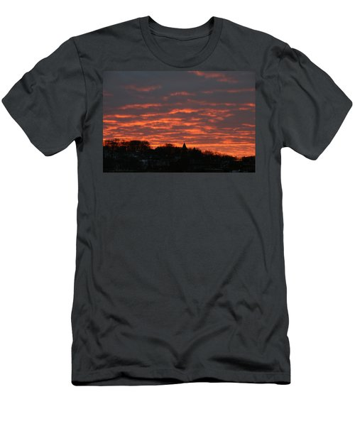 Men's T-Shirt (Slim Fit) featuring the photograph Under A Blood Red Sky by Neal Eslinger