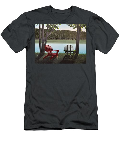 Under Muskoka Trees Men's T-Shirt (Slim Fit) by Kenneth M  Kirsch